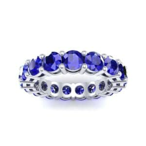 Luxe Shared Prong Blue Sapphire Eternity Ring (2.72 Carat)