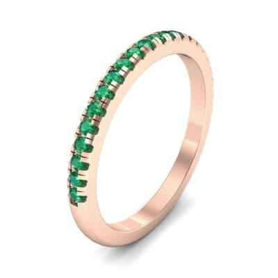 Pave Emerald Ring (0.44 Carat)