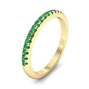 Pave Emerald Ring (0.44 Carat)