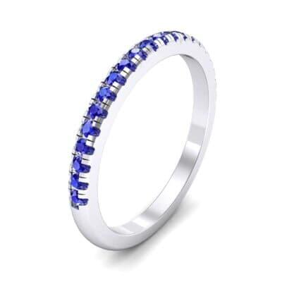Pave Blue Sapphire Ring (0.44 Carat)
