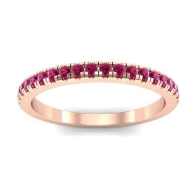 Pave Ruby Ring (0.44 Carat)
