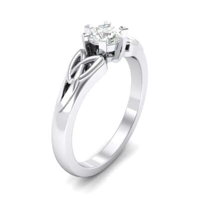 Celtic Six-Prong Crystals Engagement Ring (0.46 Carat)