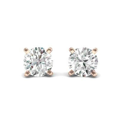 Classic Round Brilliant Diamond Stud Earrings (0.6 Carat)