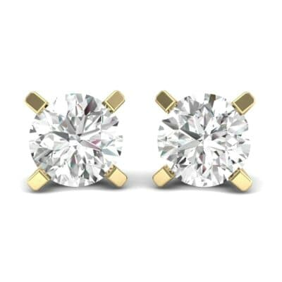 Classic Round Brilliant Diamond Stud Earrings (1.4 Carat)