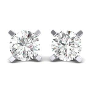 Classic Round Brilliant Diamond Stud Earrings (1.4 Carat)