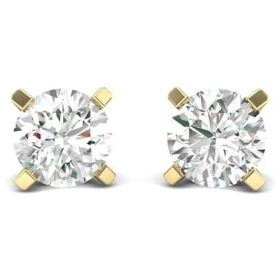 Classic Round Brilliant Diamond Stud Earrings (1.7 Carat)