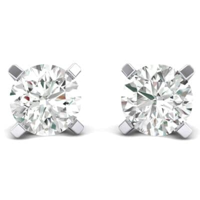 Classic Round Brilliant Diamond Stud Earrings (1.7 Carat)