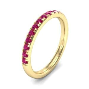 Pave Ruby Ring (0.51 Carat)