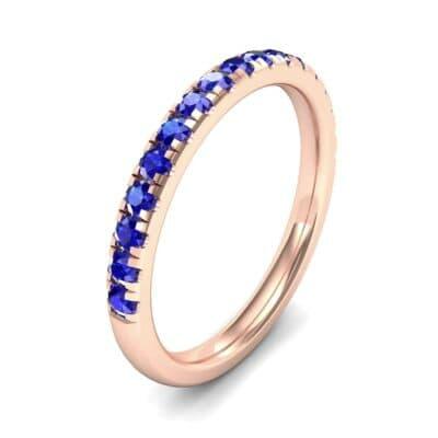Pave Blue Sapphire Ring (0.51 Carat)
