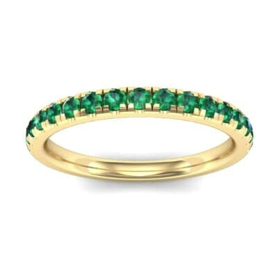 Pave Emerald Ring (0.51 Carat)