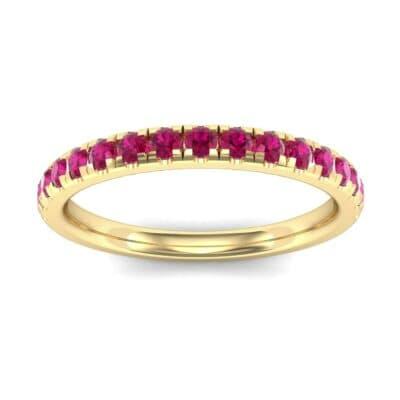 Pave Ruby Ring (0.51 Carat)