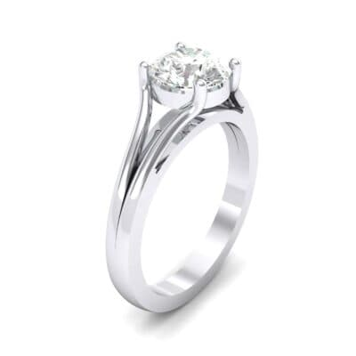 Cathedral Split Shank Solitaire Diamond Engagement Ring (0.36 Carat)