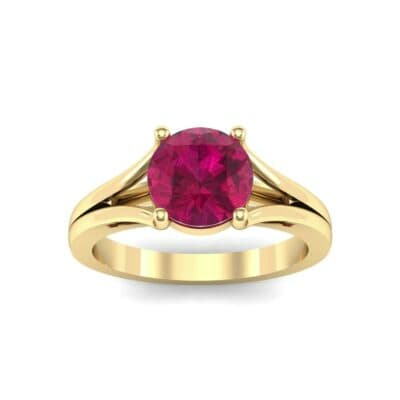 Cathedral Split Shank Solitaire Ruby Engagement Ring (0.36 Carat)