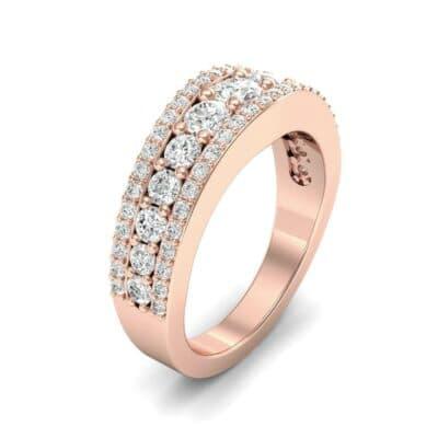 Reina Three-Row Pave Diamond Ring (1.29 Carat)