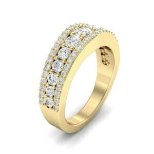 Reina Three-Row Pave Diamond Ring (1.29 Carat)