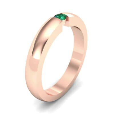 Floating Solitaire Emerald Ring (0.06 Carat)