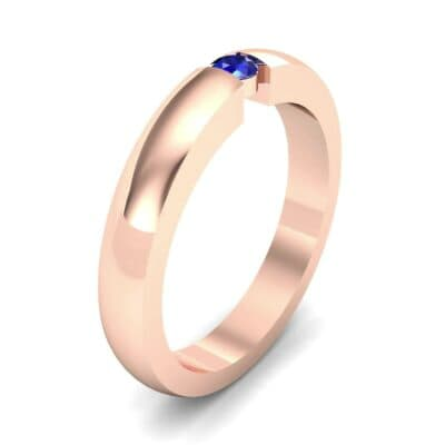 Floating Solitaire Blue Sapphire Ring (0.06 Carat)