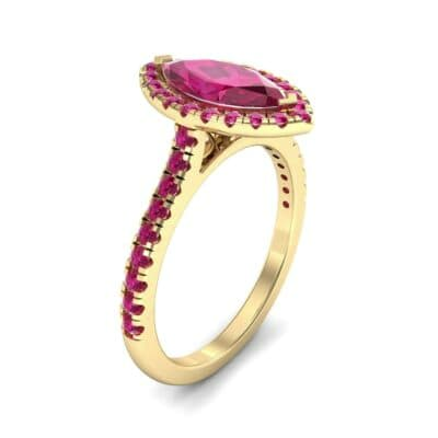 Marquise Halo Ruby Engagement Ring (0.97 CTW)