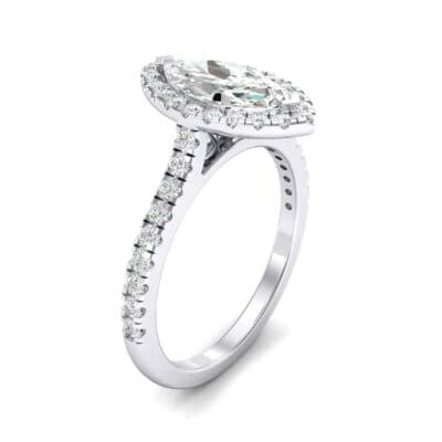 Marquise Halo Diamond Engagement Ring (0.97 CTW)