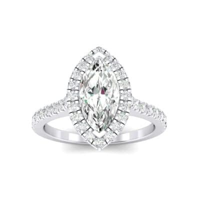 Marquise Halo Diamond Engagement Ring (0.97 Carat)