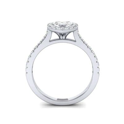Marquise Halo Diamond Engagement Ring (0.97 CTW) Side View