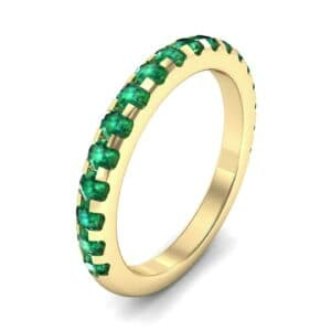 Pave Emerald Ring (0.82 Carat)
