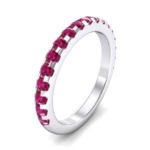 Pave Ruby Ring (0.82 Carat)