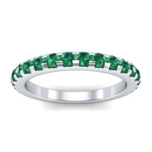 Pave Emerald Ring (0.82 Carat)