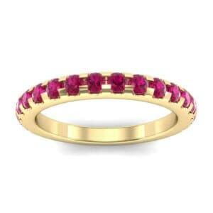 Pave Ruby Ring (0.82 Carat)