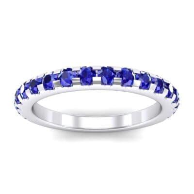Pave Blue Sapphire Ring (0.82 Carat)