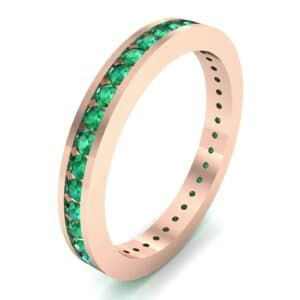 Channel-Set Emerald Eternity Ring (1.11 Carat)