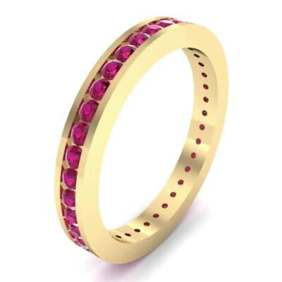 Channel-Set Ruby Eternity Ring (1.11 Carat)