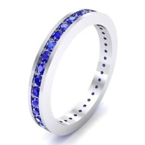 Channel-Set Blue Sapphire Eternity Ring (1.11 Carat)