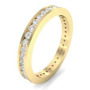 Channel-Set Diamond Eternity Ring (0.74 Carat)