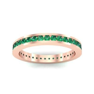 Channel-Set Emerald Eternity Ring (1.11 Carat)