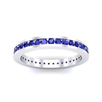 Channel-Set Blue Sapphire Eternity Ring (1.11 Carat)