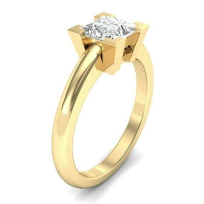 Cathedral Princess-Cut Solitaire Diamond Engagement Ring (0.56 CTW)