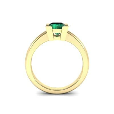 Cathedral Princess-Cut Solitaire Emerald Engagement Ring (0.65 CTW) Side View
