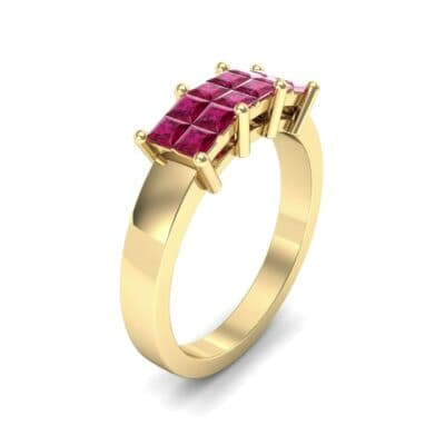 Invisible-Set Dozen Ruby Ring (0.96 CTW)
