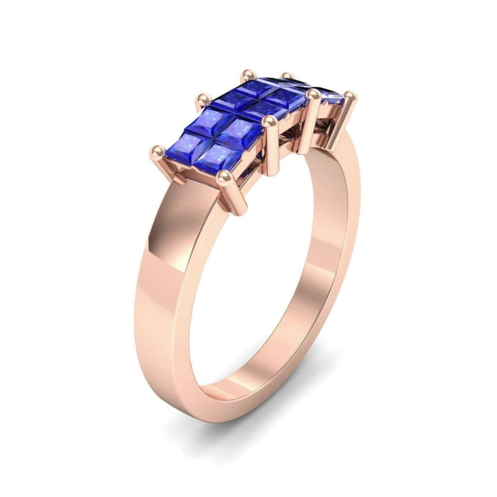 4541 Render 1 01 Camera1 Stone 3 Blue Sapphire 0 Floor 0 Metal 2 Rose Gold 0 Emitter Aqua Light 0