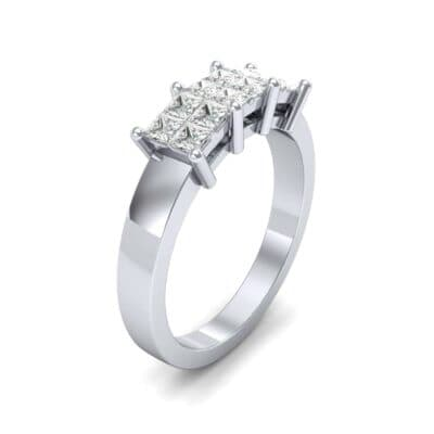 Invisible-Set Dozen Diamond Ring (0.72 CTW)
