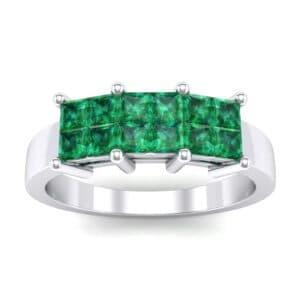 Invisible-Set Dozen Emerald Ring (0.72 Carat)
