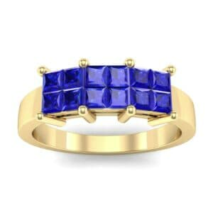 Invisible-Set Dozen Blue Sapphire Ring (0.72 Carat)