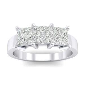 Invisible-Set Dozen Diamond Ring (0.72 Carat)
