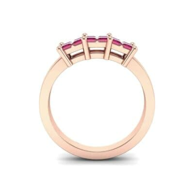 Invisible-Set Dozen Ruby Ring (0.96 CTW) Side View