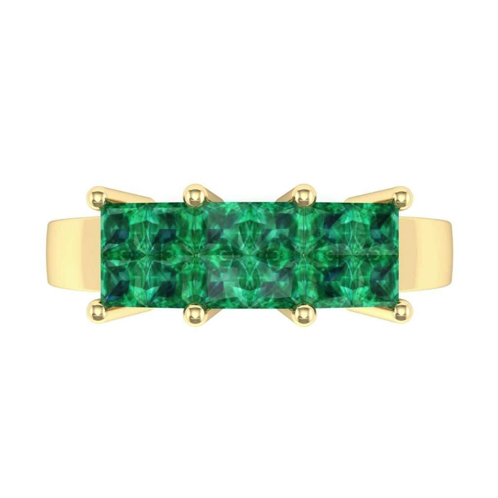 4541 Render 1 01 Camera4 Stone 1 Emerald 0 Floor 0 Metal 3 Yellow Gold 0 Emitter Aqua Light 0