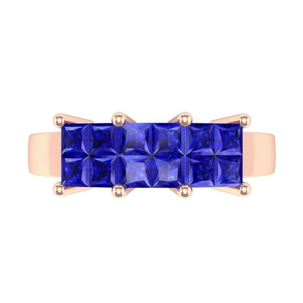 4541 Render 1 01 Camera4 Stone 3 Blue Sapphire 0 Floor 0 Metal 2 Rose Gold 0 Emitter Aqua Light 0