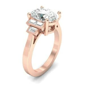 Stepped Baguette Oval Diamond Ring (7.65 Carat)