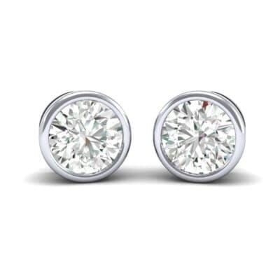 Bezel-Set Round Brilliant Diamond Stud Earrings (0.5 Carat)
