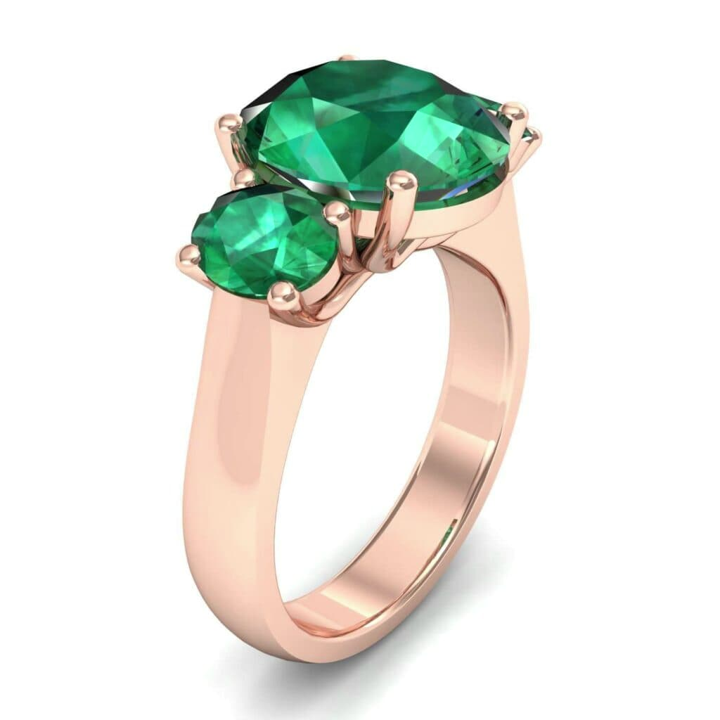 4555 Render 1 01 Camera1 Stone 1 Emerald 0 Floor 0 Metal 2 Rose Gold 0 Emitter Aqua Light 0